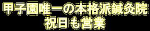 阪神甲子園駅近く 三保鍼灸接骨院